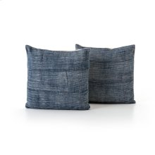 Faded Blue Haze Pillow, Set of 2-20""