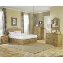 HB10 Panel Storage Bed - 2 Drawer - King