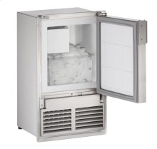 "14"" Marine Crescent Ice Maker Stainless Solid Field Reversible (Flush to Cabinet)"
