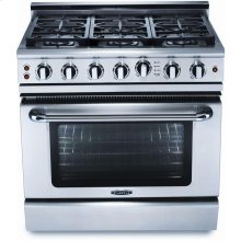 "36"" 6 Burner Gas Self-Clean Convection Range - LP"