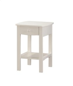 1 Drawer Nightstand-white Product Image
