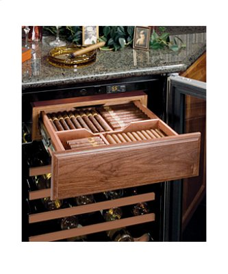 Humidrawer(TM) Cigar Compartment