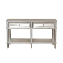 Two Drawer Mirrored Front Entryway Console