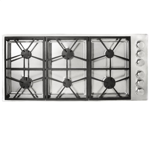 """Distinctive 46"""" Gas Cooktp,, in Stainless Steel with Natural Gas High Altitude"""