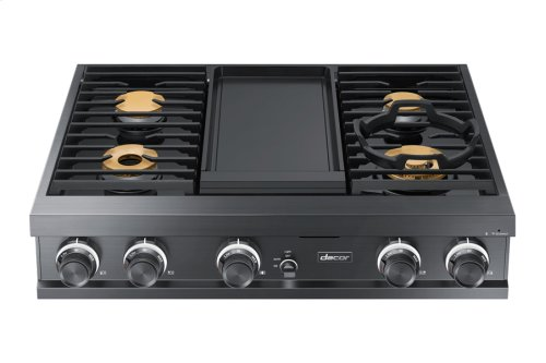"""36"""" Gas Rangetop, Stainless Steel, Natural Gas"""
