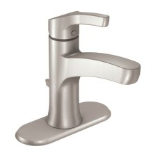 Danika spot resist brushed nickel one-handle bathroom faucet