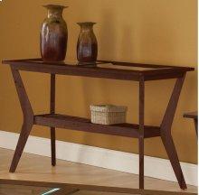 Caliente Espresso Wood Grid/Glass Sofa