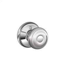 Georgian Knob Non-turning Lock - Bright Chrome