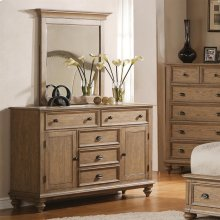 Coventry - Panel Door Dresser - Weathered Driftwood Finish