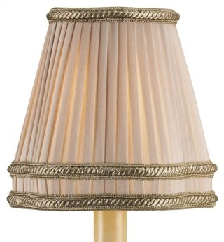 Beige Shantung Pleated Shade - 3 x 5 x 5