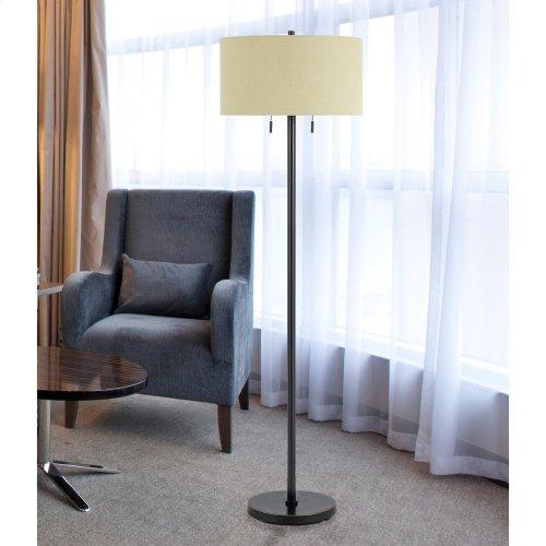 60W X 2 Calais Metal Floor Lamp
