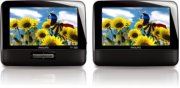 "Philips Portable DVD Player PD7012 17.8 cm (7"") LCD Dual screens Product Image"