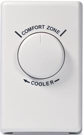 Wall Thermostat for Fans - White