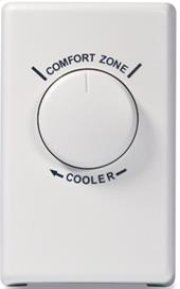 Wall Thermostat for Fans - White Product Image