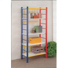 "BOOKCASE YOUTH 5 TIER MT L MULTICOLOR 68""H """