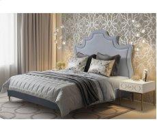 Serenity Grey Velvet Queen Upholstered Bed Product Image