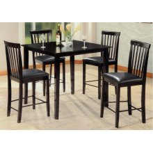 5pc. Black Pub Set