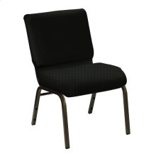 Wellington Black Upholstered Church Chair - Gold Vein Frame
