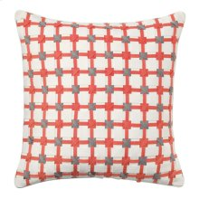 Starboard Pillow, CORAL, 22X22