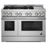 "JENN-AIRRISE 48"" Gas Professional-Style Range with Chrome-Infused Griddle and Grill"