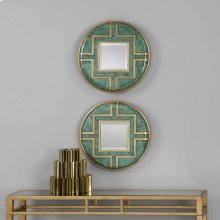 Amina Round Mirrors, S/2