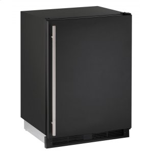 "U-Line 1000 Series 24"" Combo(r) Model With Black Solid Finish And Field Reversible Door Swing (115 Volts / 60 Hz)"