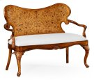 Seaweed Marquetry Loveseat (Fabric) - COM Product Image