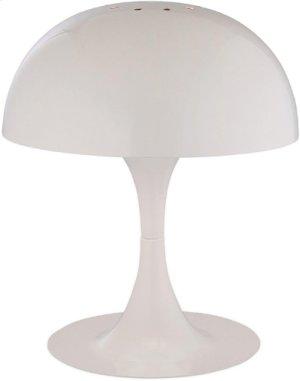 Mini Table Lamp, White Metal Shade, E12 Type G 40w