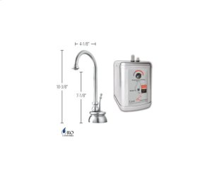 Hot Water Faucet with Traditional Body & Single Tilt Lever & Little Gourmet® Premium Hot Water Tank - Antique Brass Product Image