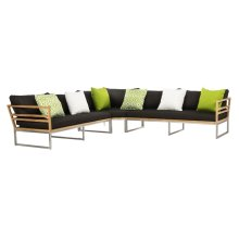Layton Teak Sectional - Teak / Black