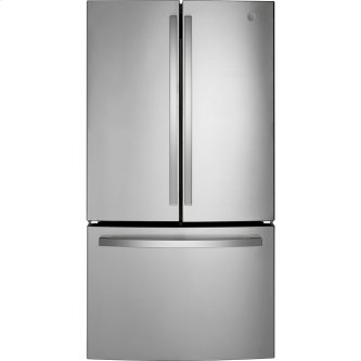 GE™ Energy Star™ 27.0 Cu. Ft. French-Door Refrigerator Fingerprint Resistant Stainless Steel - GNE27EYMFS