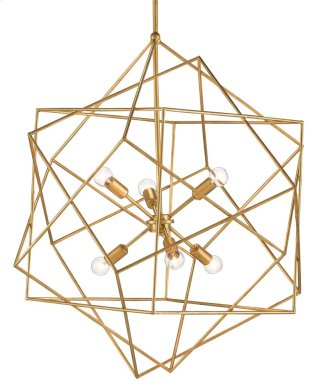 Aerial Chandelier - 34h x 31dia., adjustable from 45h to 75h