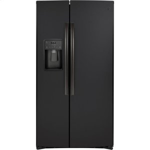 GE® 25.1 Cu. Ft. Side-By-Side Refrigerator - BLACK SLATE