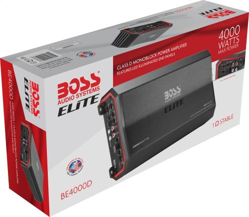 "Elite 4000W Monoblock, Class D Amplifier Dimensions 13.9""L 7.01""W 2.4""H"