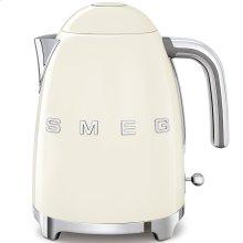 Smeg 50s Retro Style Design Aesthetic Electric Kettle, Cream
