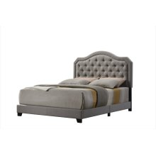 Emerald Home Upholstered Cal King Headboard-footboard-siderails Gray #mineral M10144
