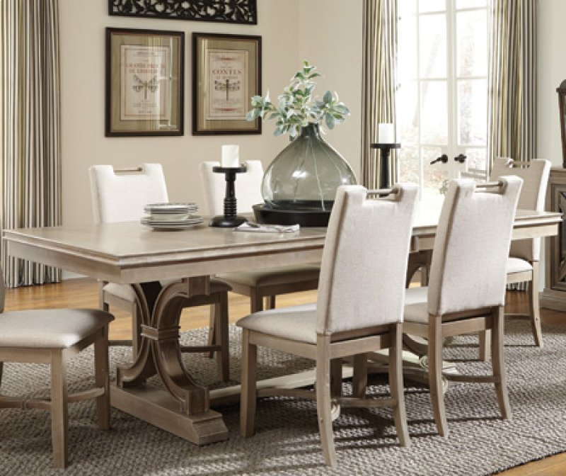 T094078xat094078xb In By John Thomas Furniture Morgantown Wv Sonoma Dining Table Taupe Gray