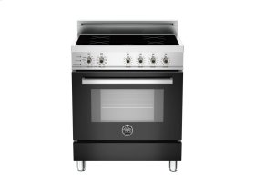 30 4-Induction Zones, Electric Self-Clean oven Black