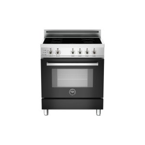 Bertazzoni30 4-Induction Zones, Electric Self-Clean Oven Black