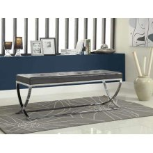 Contemporary Chrome Bench