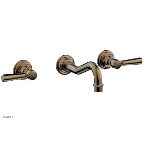 HENRI Wall Tub Set - Lever Handles 161-57 - Antique Brass