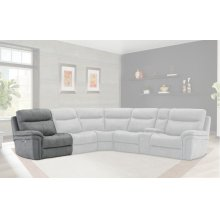 Mason Charcoal Power Left Arm Facing Recliner