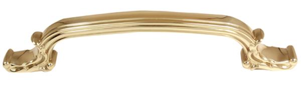 Ornate Pull A3650-6 - Polished Brass