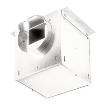 "In-Line Ventilator; 106 CFM Straight Through, 0.7 Sones; 95 CFM Right Angle, 0.3 Sones. 6"" rd. duct connectors. 120V"