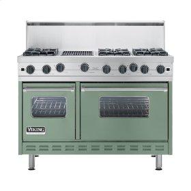 "Mint Julep 48"" Open Burner Commercial Depth Range - VGRC (48"" wide, six burners 12"" wide char-grill)"