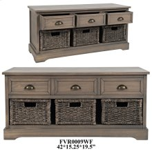 "42X15.25X19.5"" ACCENT STORAGE BENCH,1PC PK/9.4'"