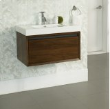 "m4 30x18"" Wall Mount Vanity - Natural Walnut Product Image"