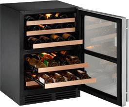 """Stainless Field reversible 2000 Series / 24"""" Wine Captain® / Dual Zone System"""