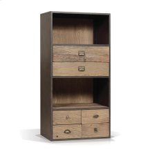 Norita Industrial Cabinet with 6 Drawers, 2 Open Shelves
