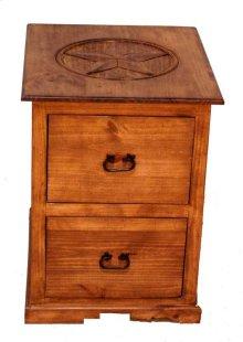 2 Drawer File Cabinet W/star